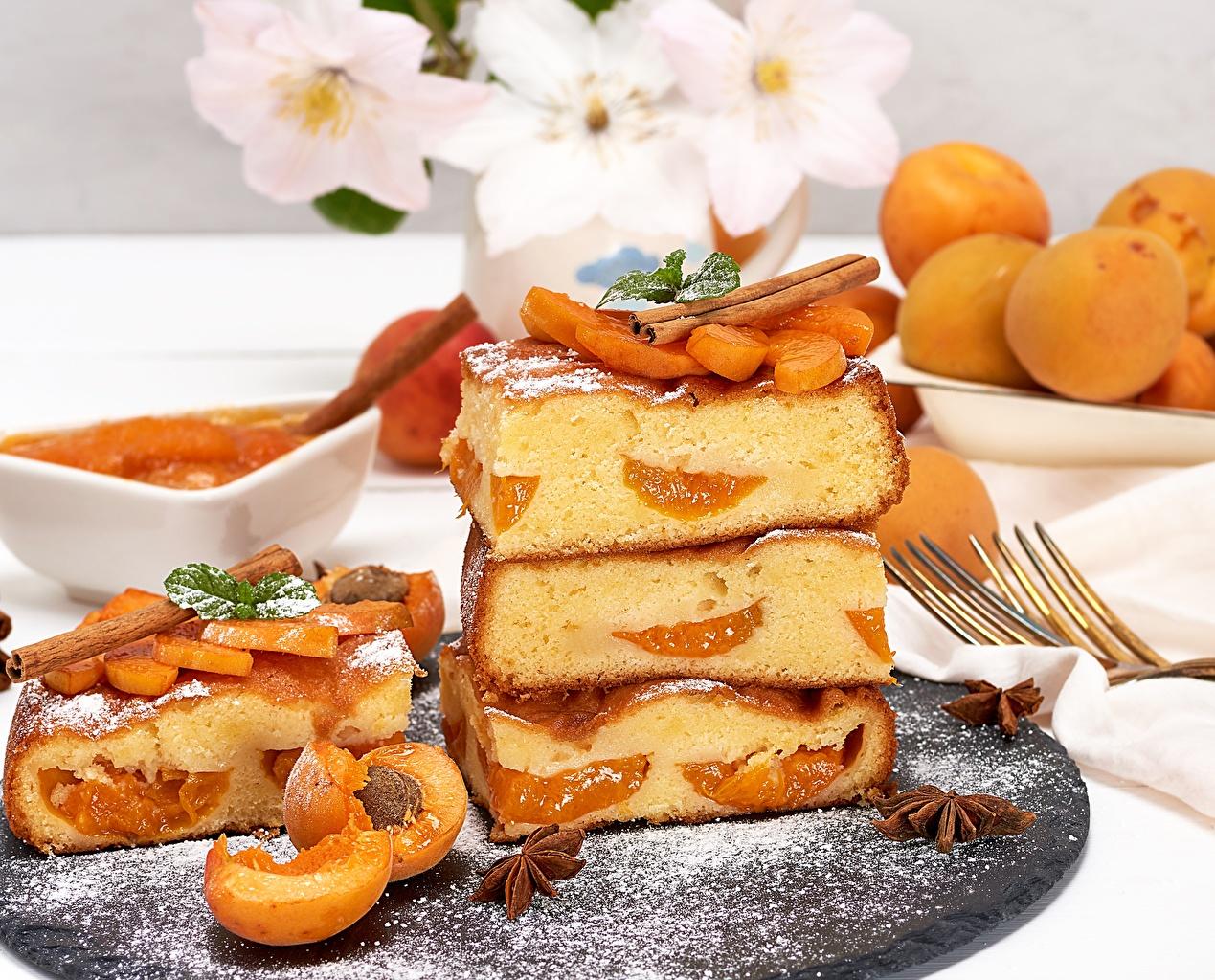 Pictures Pie Apricot Piece Food pieces