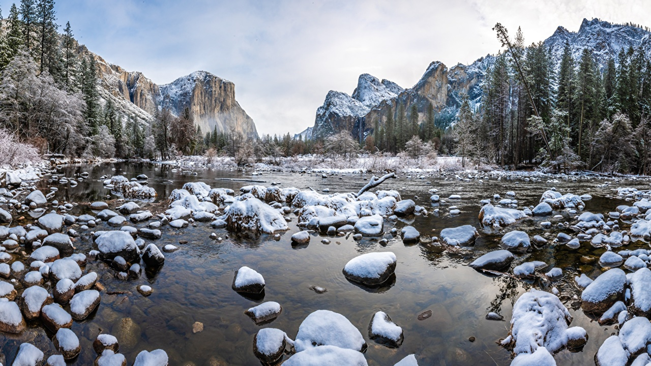Wallpapers Yosemite USA Nature Mountains Parks Scenery Stones Landscape photography