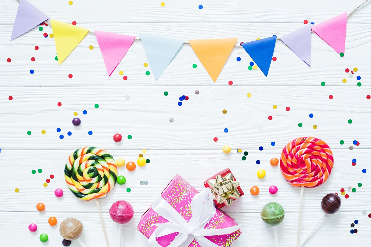 Photos Birthday Confetti Dragee Lollipop Gifts Food present