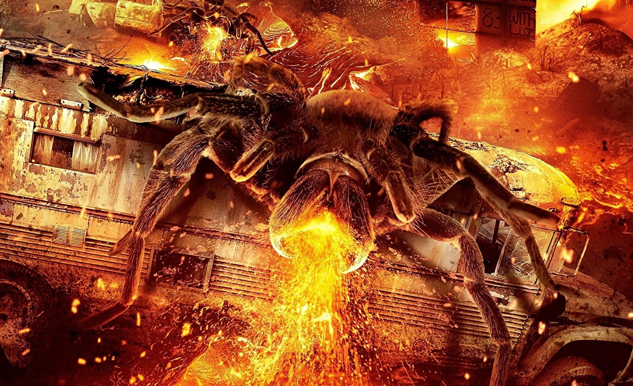 Araneaes Fuego Lavalantula 2015 Película Fantasía