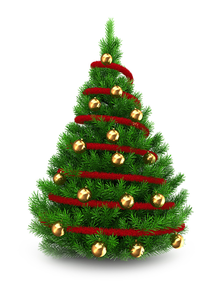 Picture New year Christmas tree Balls White background  for Mobile phone Christmas New Year tree