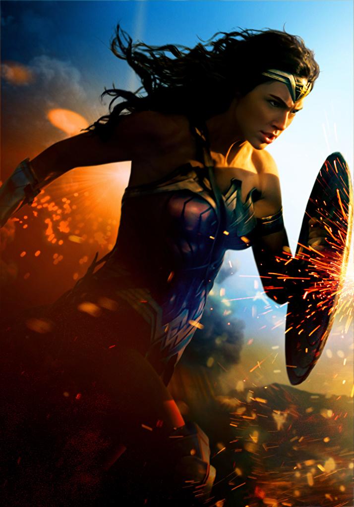 Wonder Woman Héroe Wonder Woman (película de 2017) Gal Gadot Escudo mujer joven, mujeres jóvenes Película Celebridad Chicas para móvil Teléfono