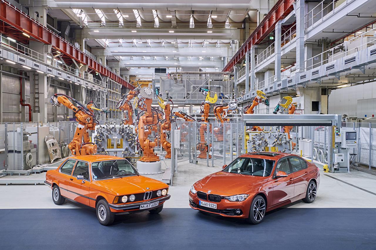 Picture BMW 1975-2017 Serie 3 Two Retro Orange Metallic automobile 2 antique vintage auto Cars