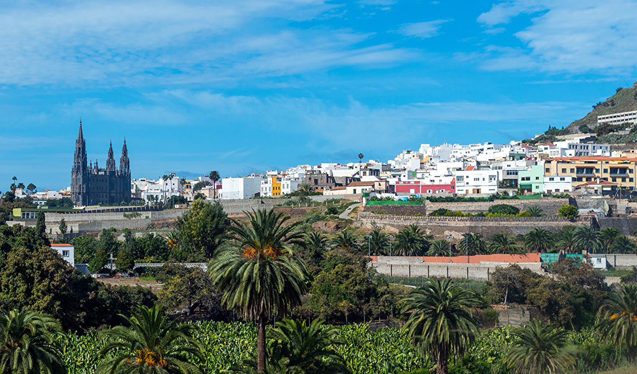 Wallpaper Canary Islands Spain Aruca Gran Canaria Nature Sky