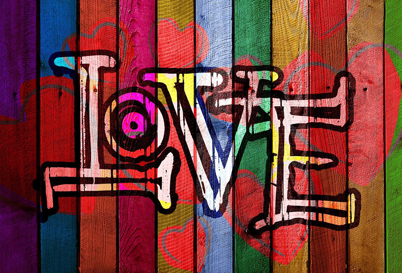 Bilder engelska Hjärta Kärlek Graffiti textning Träplankor Engelsk text Skrivet ord