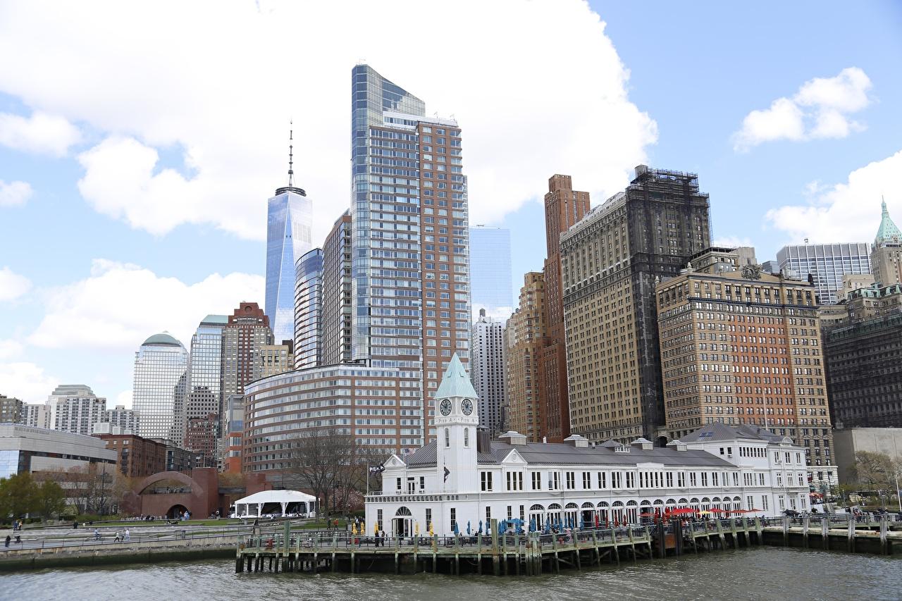 Image Manhattan New York City USA Skyscrapers Cities