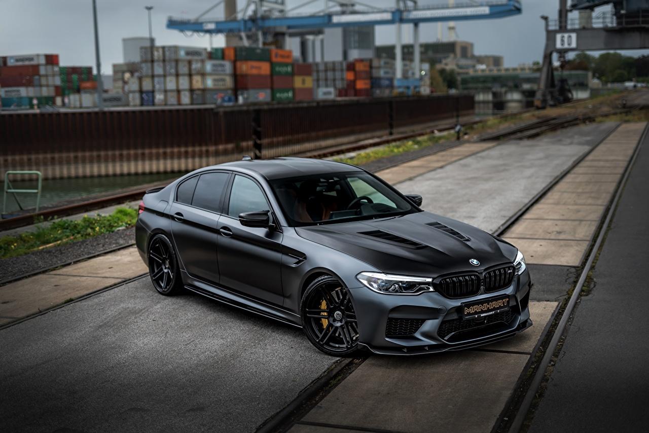 Pictures BMW M5 Manhart V8 F90 2019 MH5 Black Cars auto automobile
