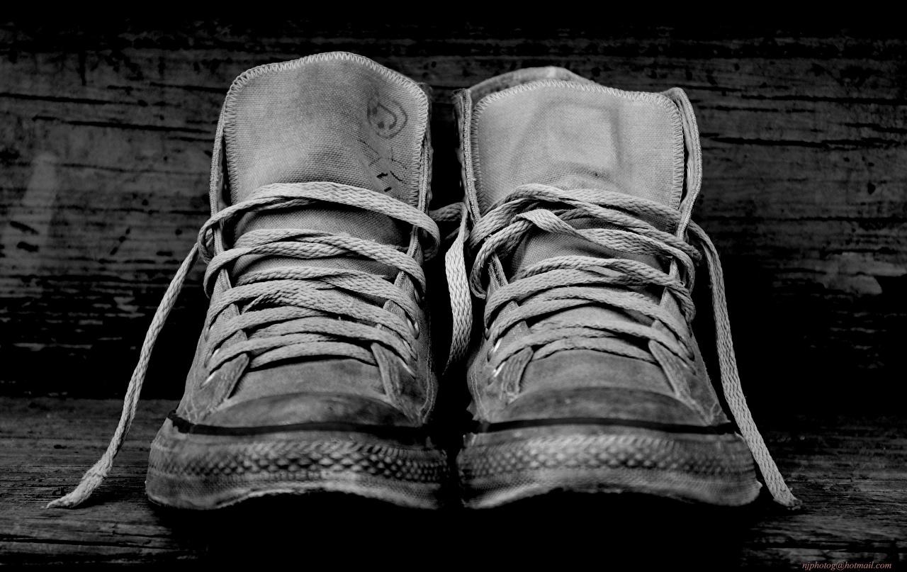 壁紙 クローズアップ Converse プリムソール靴 白黒 靴ひも ダウンロード 写真