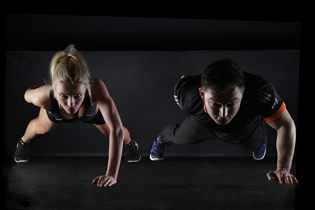 Fitness Homme Blondeur Fille Deux Pompe musculation 2 Sport Filles