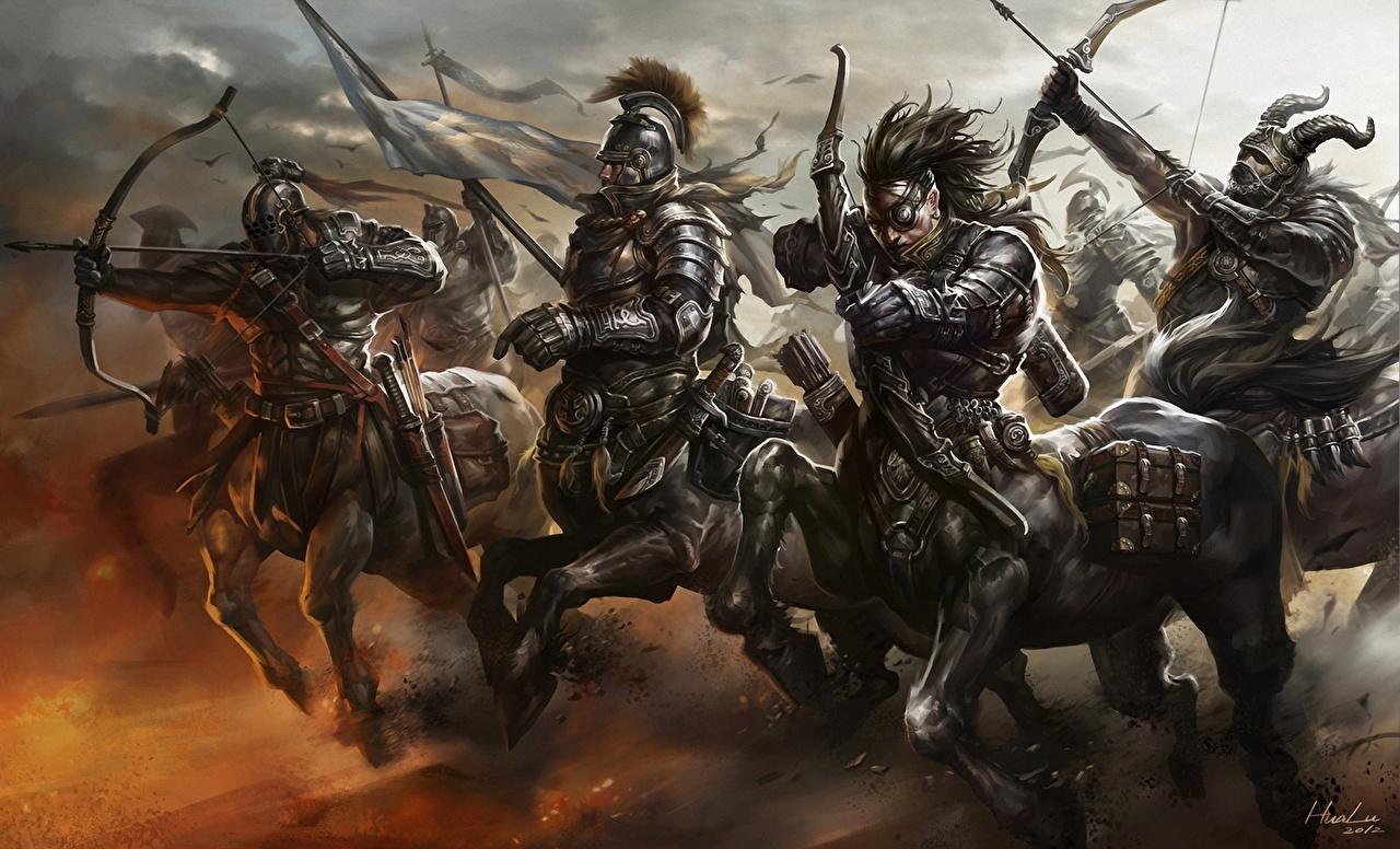 Centauros Guerreiro Arqueiros Armadura guerreiros Fantasia