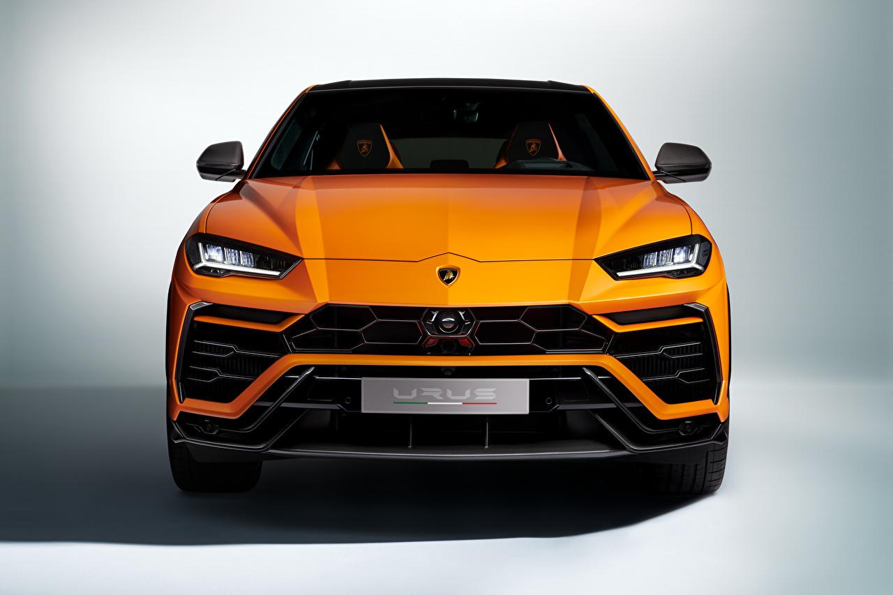 Pictures Lamborghini Crossover Urus, Pearl Capsule, 2020 Orange Cars Front Metallic CUV auto automobile