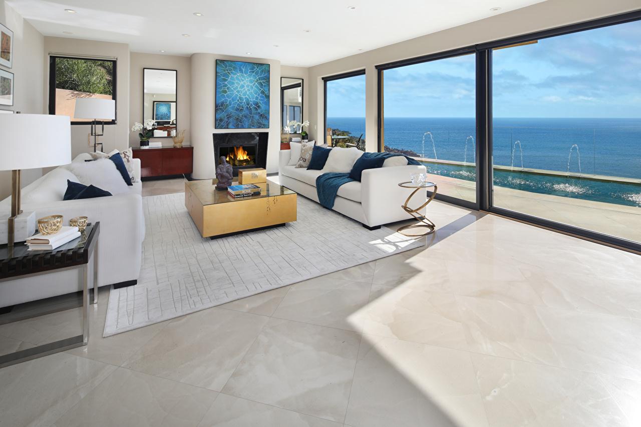 Foto Wohnzimmer Innenarchitektur Couch Teppich Design