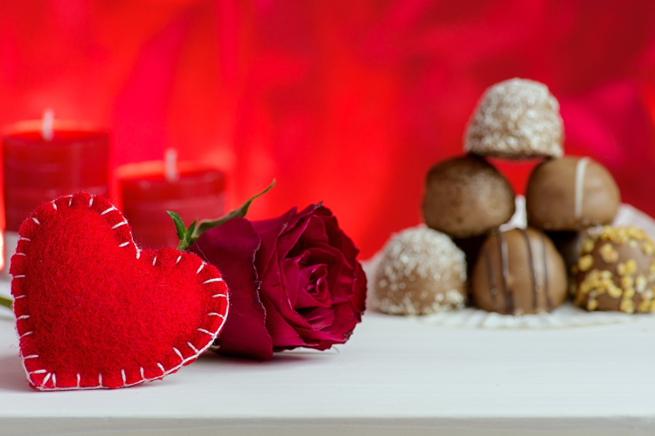 Photos Valentine's Day Heart rose Flowers Roses flower