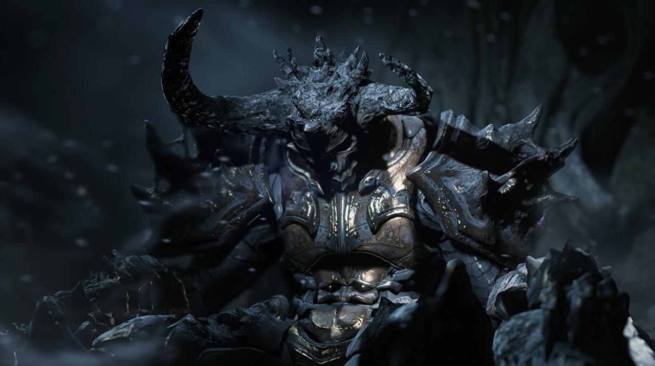 Papeis de parede Diablo III Demônios Chifre Machado de