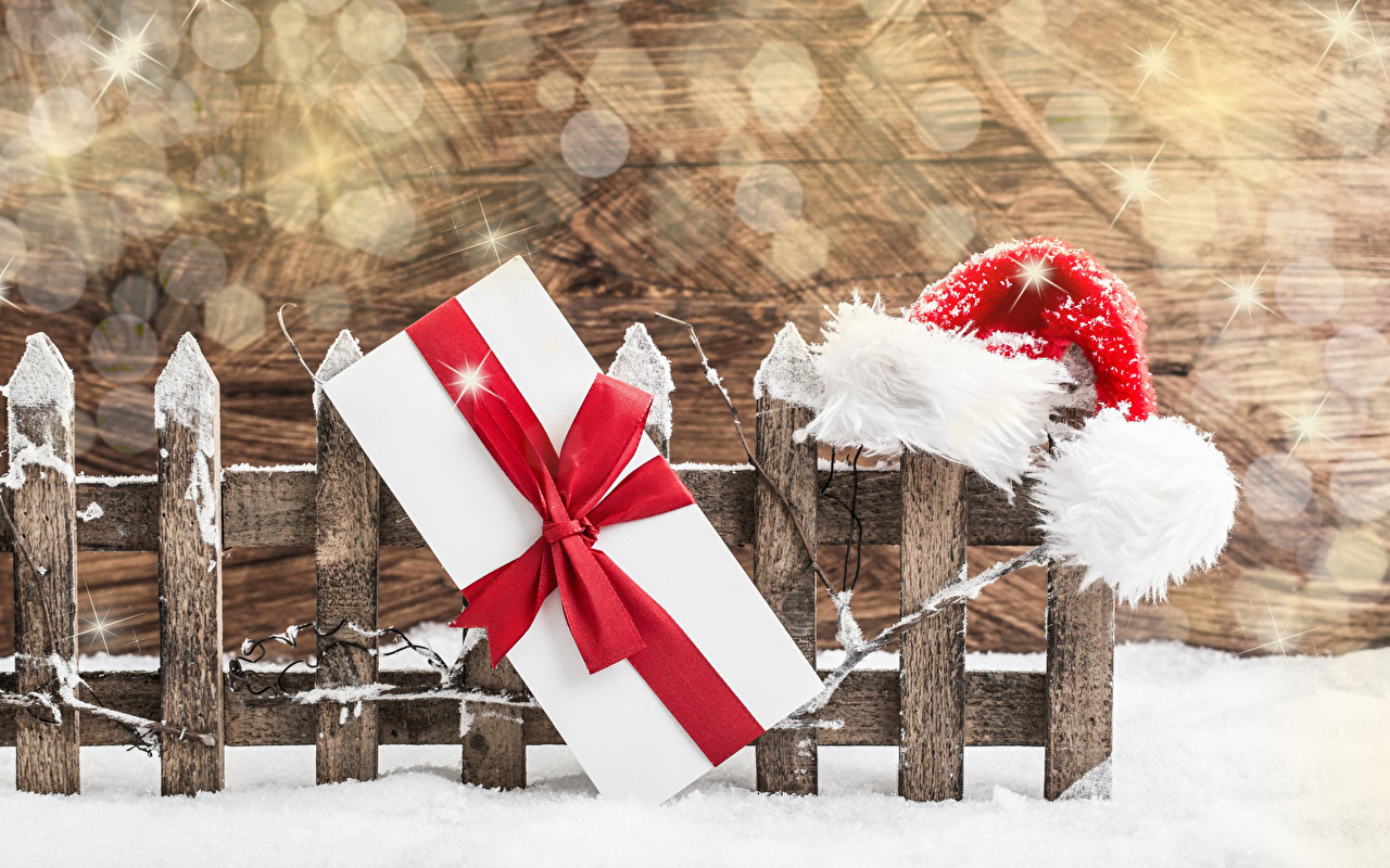 Fondos de Pantalla 3840x2400 Año Nuevo Niñas Sombrero del