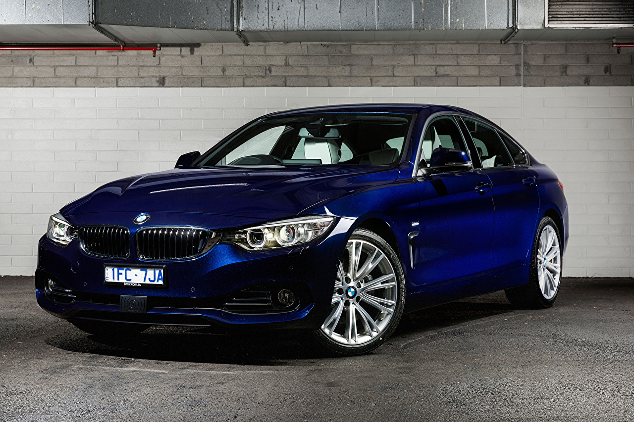 Desktop Wallpapers BMW 4-Series F36 Gran Coupe Blue Cars auto automobile