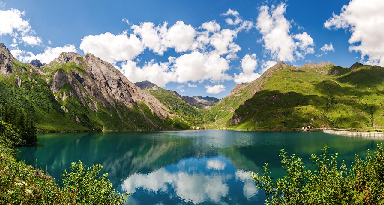 Bilder Italien Lake Morasco, Piemonte Natur Gebirge See Berg