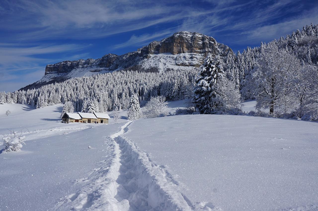 Fonds D Ecran Hiver Maison Forets Montagnes Photographie De