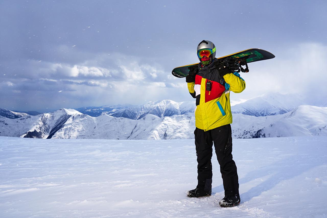 Fotos von Mann Sport Winter Snowboard Schnee Brille
