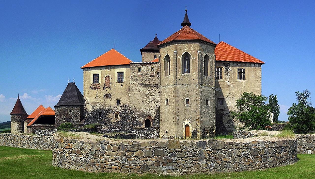 Picture Czech Republic Castles Made of stone Cities castle