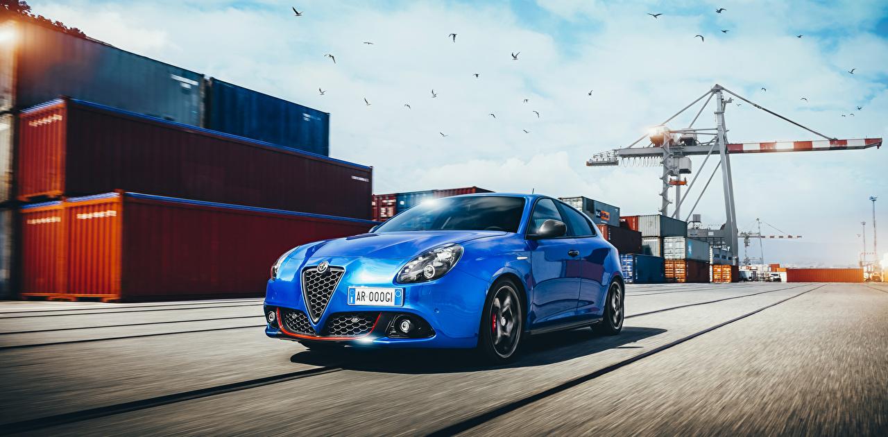 Picture Alfa Romeo 2017 Giulietta Sport Light Blue auto Cars automobile