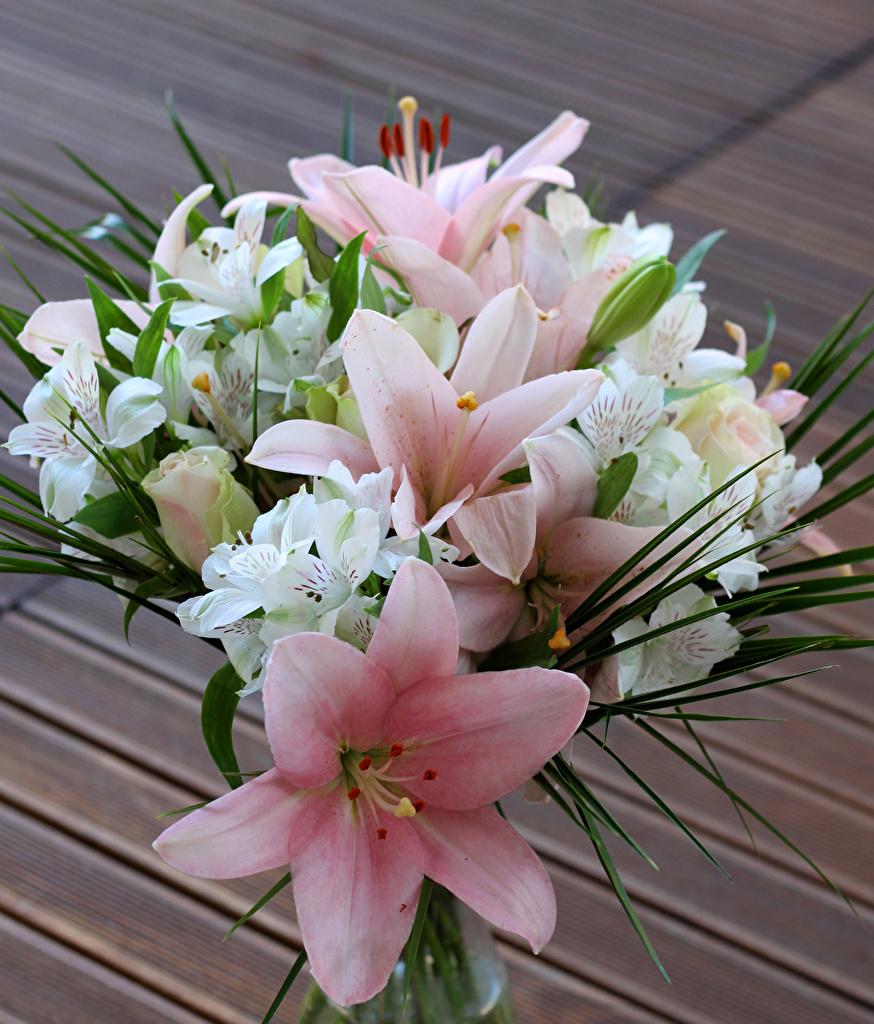 Ramos Lilium Alstroemeria flor, un ramo Flores