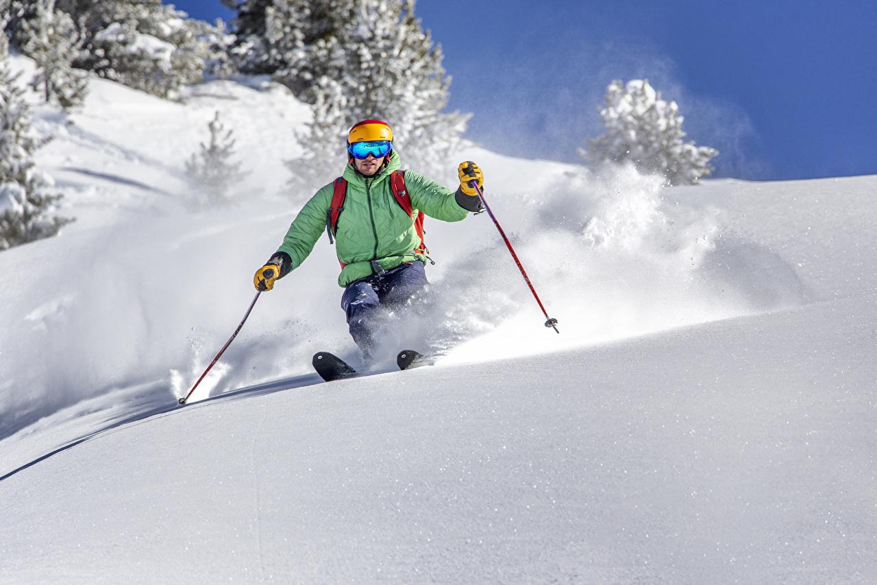 Skiing Sport Wallpaper Iphone: Wallpaper Man Sports Winter Snow Skiing
