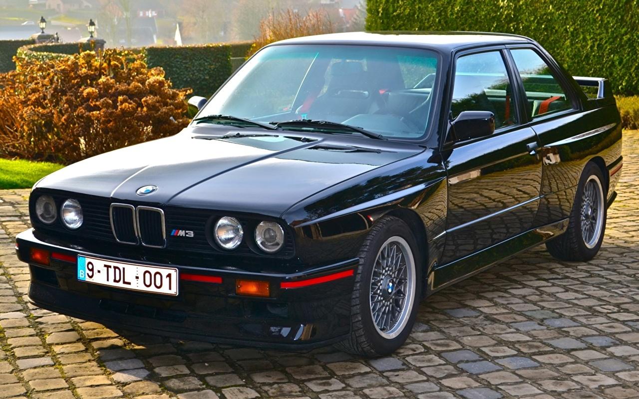 Photo BMW M3 E30 Sport Evolution 1989 Black automobile Cars auto