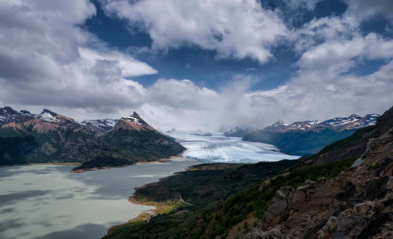 Photos Argentina Perito Moreno Glacier, Patagonia Nature mountain Clouds Mountains