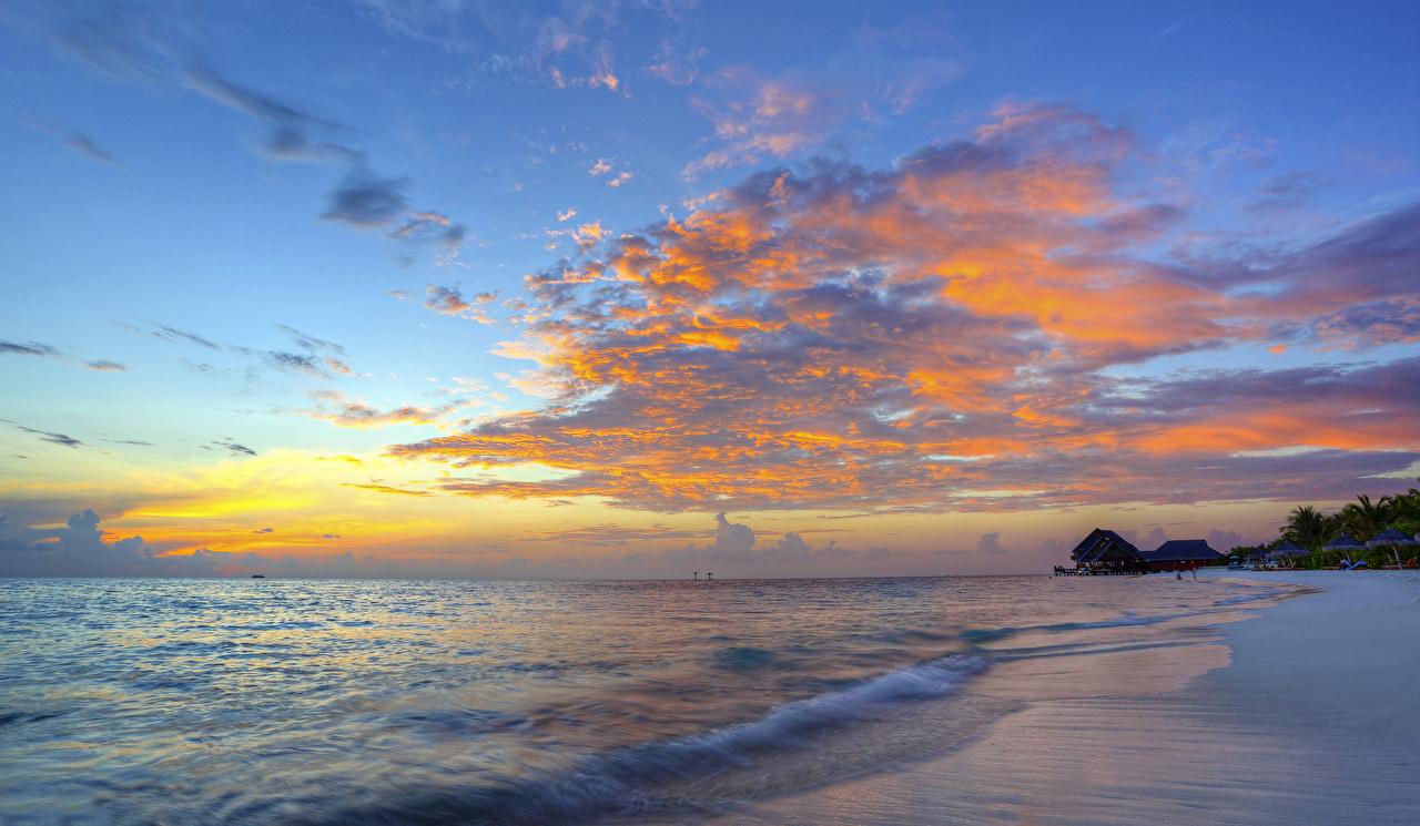 Foto Meer Natur Himmel Sonnenaufgänge und Sonnenuntergänge Küste Wolke Morgendämmerung und Sonnenuntergang