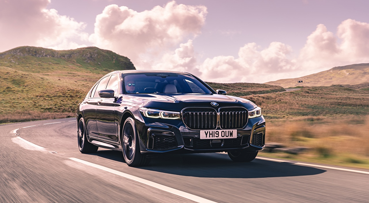Desktop Wallpapers BMW blurred background Sedan Roads riding auto Bokeh moving Motion driving at speed Cars automobile