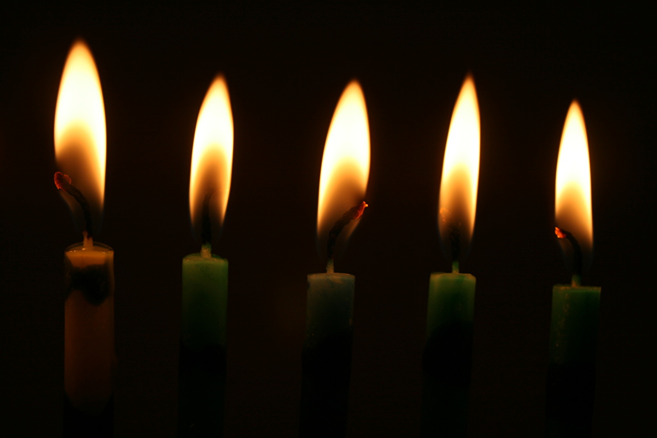 Photos flame Candles Black background Fire