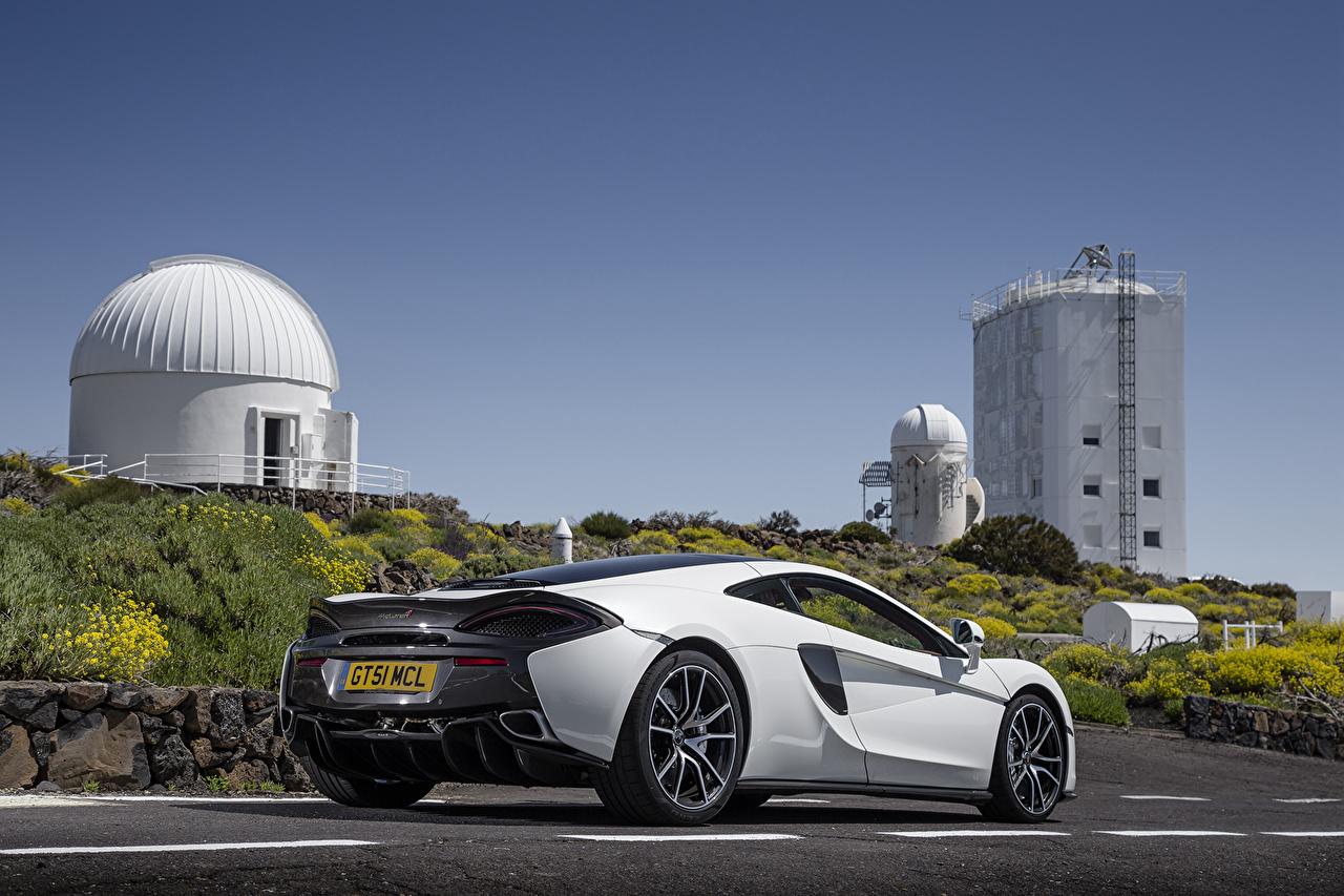 Photo McLaren 570GT White Back view automobile Cars auto