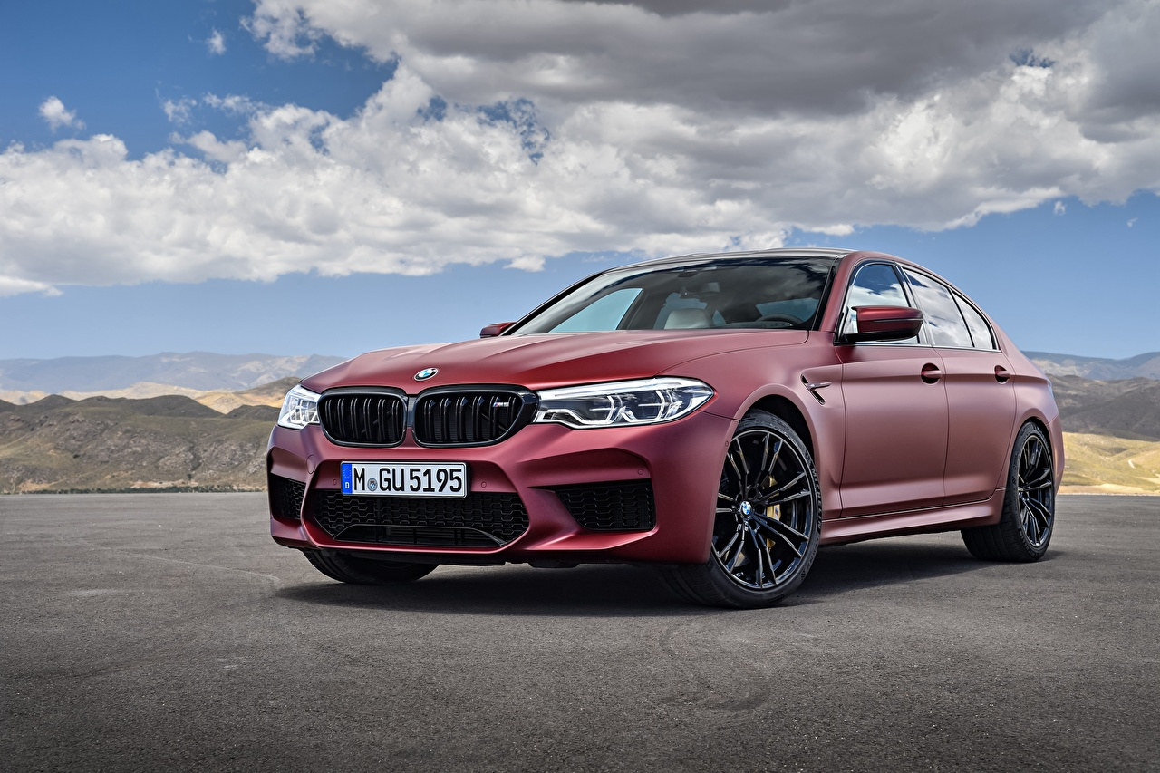 Wallpaper BMW 2018 M5 First Edition  Worldwide maroon Cars dark red burgundy Wine color auto automobile