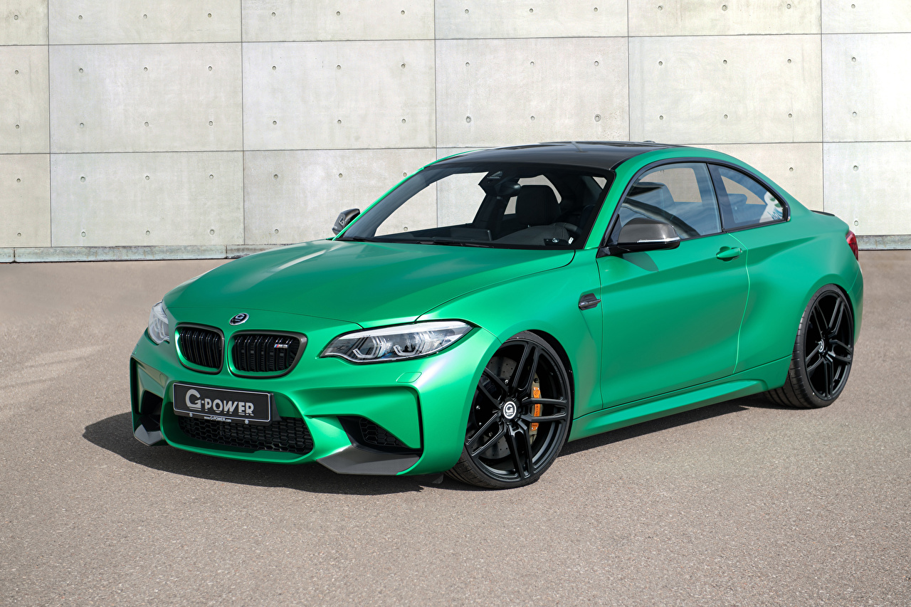 Photos BMW 2016-18 G-Power M2 Yellow green automobile lime color Cars auto