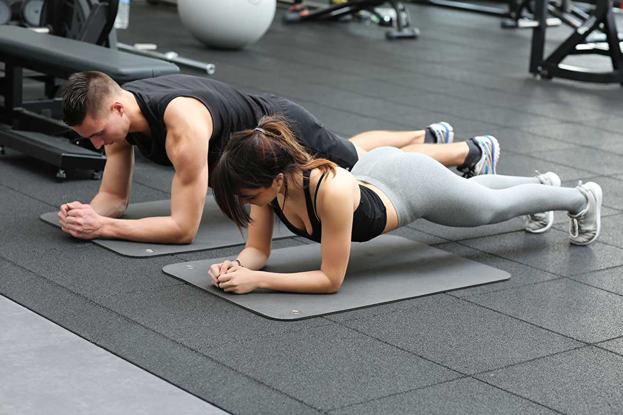 Photos Man Fitness 2 Sport Girls Men Two sports female athletic young woman