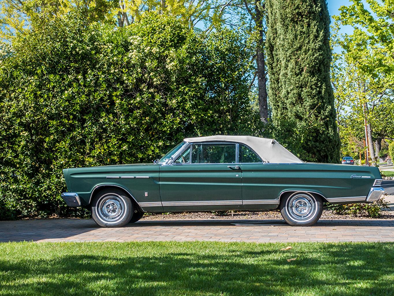 、レトロ、1965 Mercury Comet Caliente、緑、側面図、自動車、