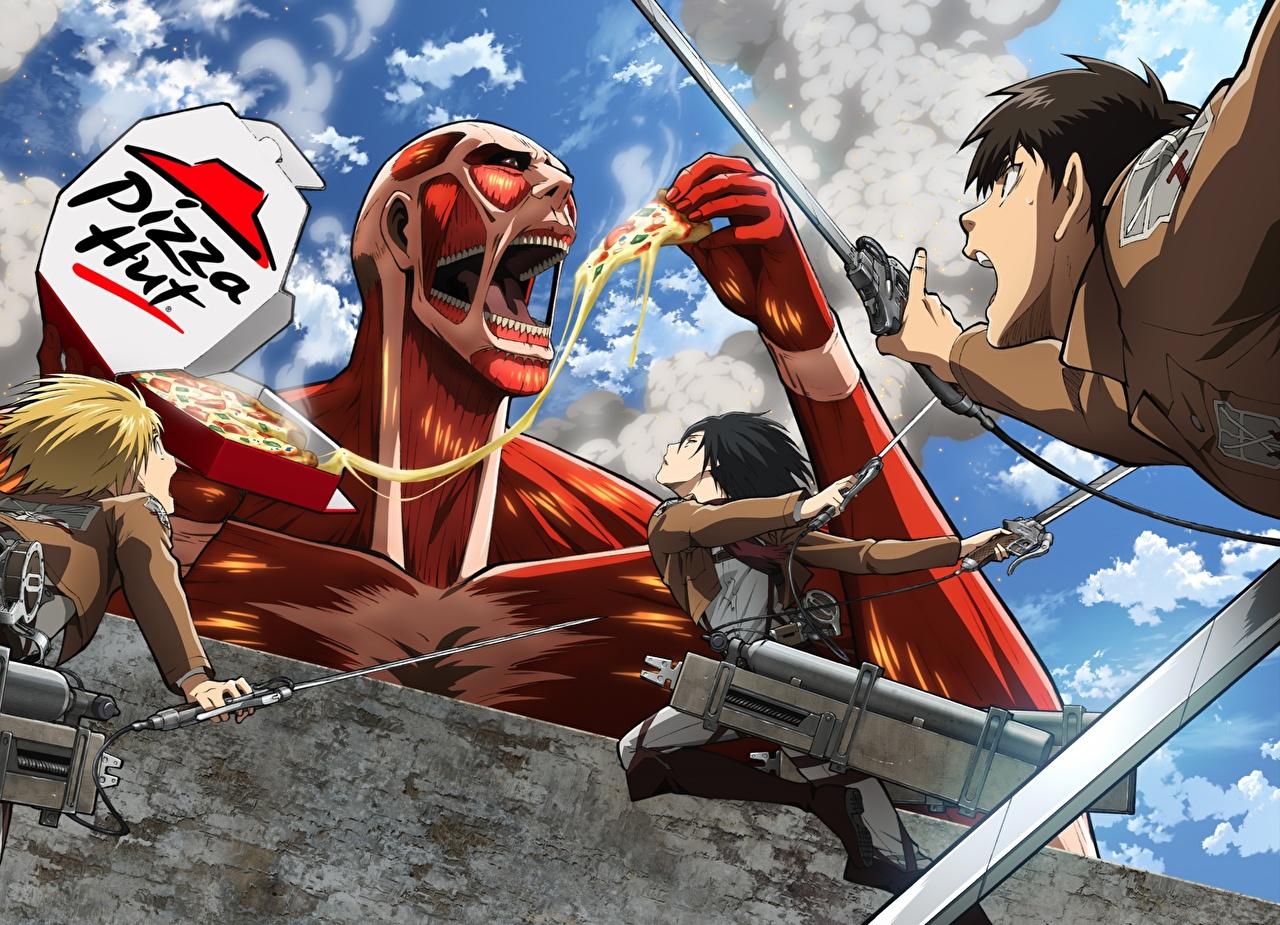 Photos Attack On Titan Warrior Eren Yeager Mikasa Ackerman Armin