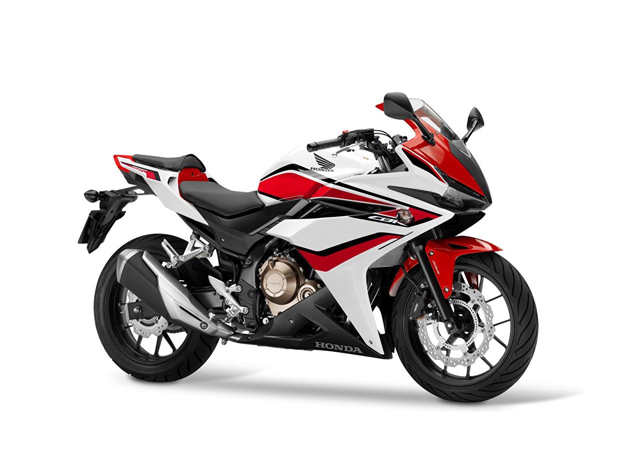 Desktop Wallpapers Honda - Motorcycles 2016-18 CBR500R Worldwide Motorcycles Side White background motorcycle