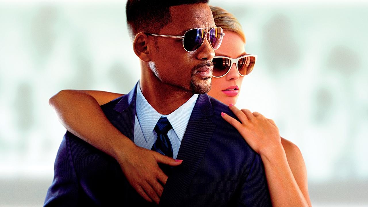 Обои для рабочего стола Уилл Смит Мужчины Focus 2014 кино Очки Will Smith мужчина Фильмы очков очках