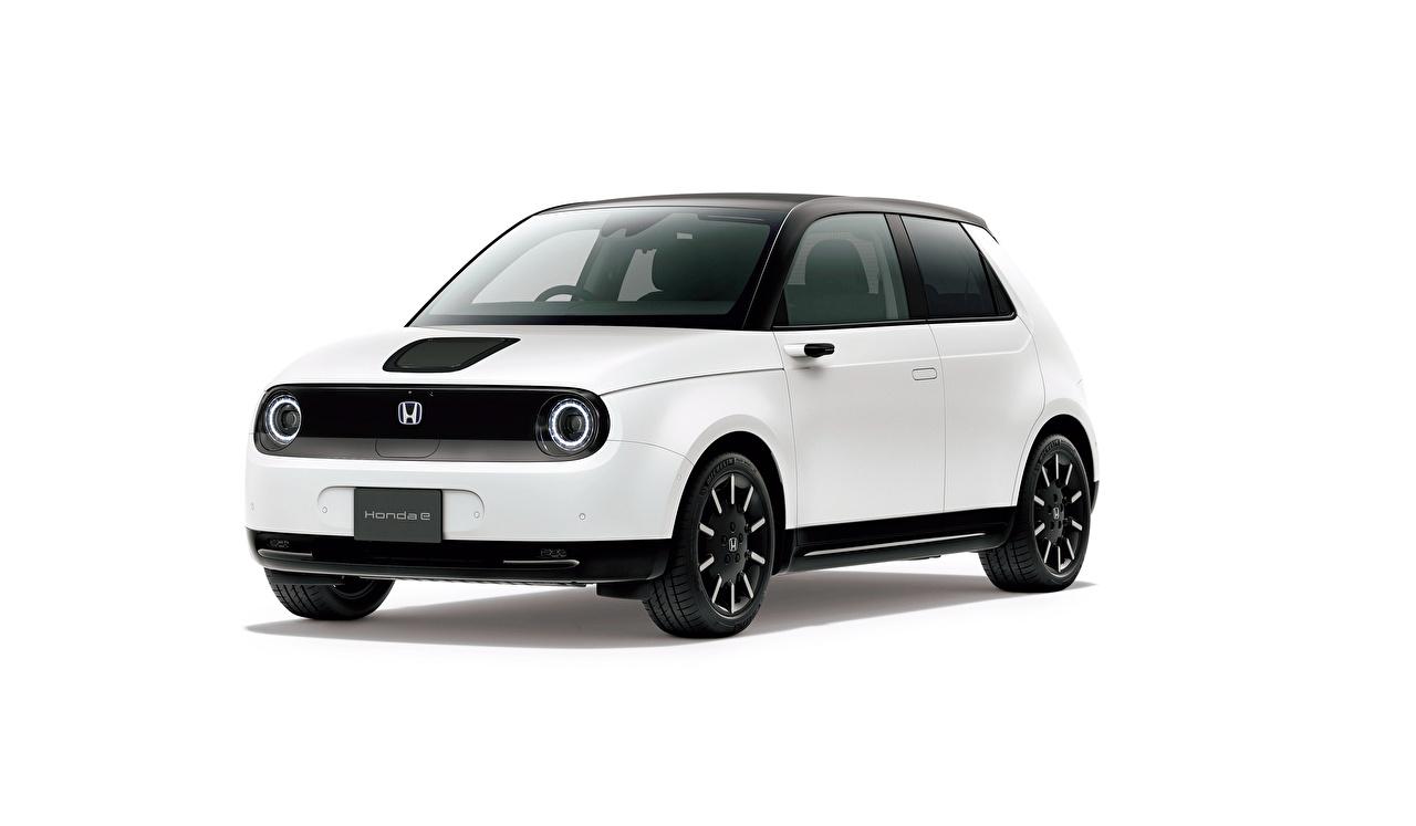 Bilder von Honda e, JP-spec, 2020 Weiß auto Metallisch Weißer hintergrund Autos automobil