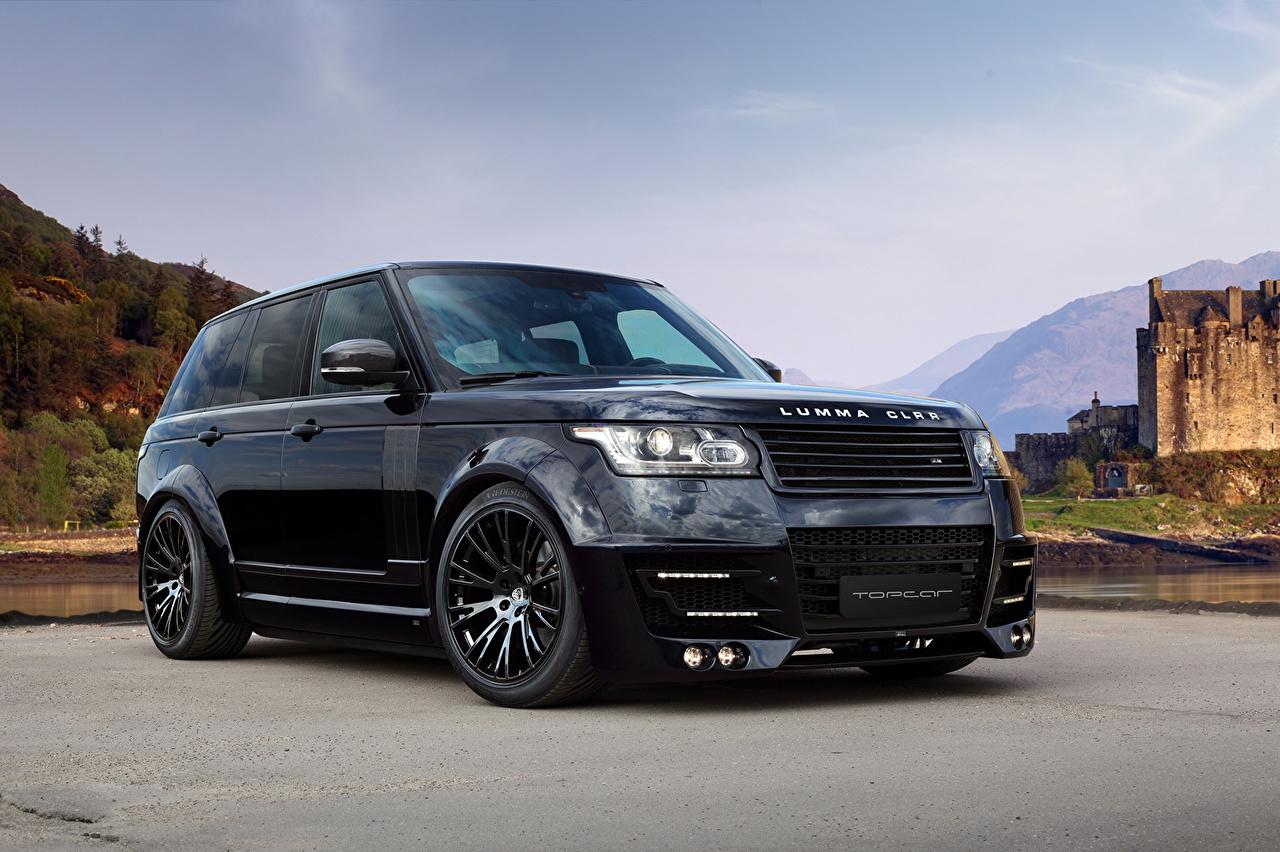 Photos 2013 Lumma Design CLR R Black-Carbon Range Rover Black Cars Headlights Land Rover auto automobile