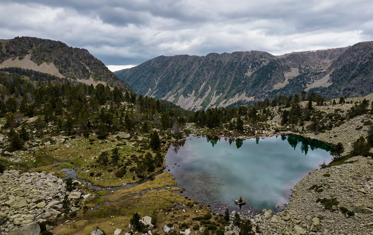 Bilder von Andorra Vall del Madriu-Perafita-Claror Berg Natur See Park Gebirge Parks
