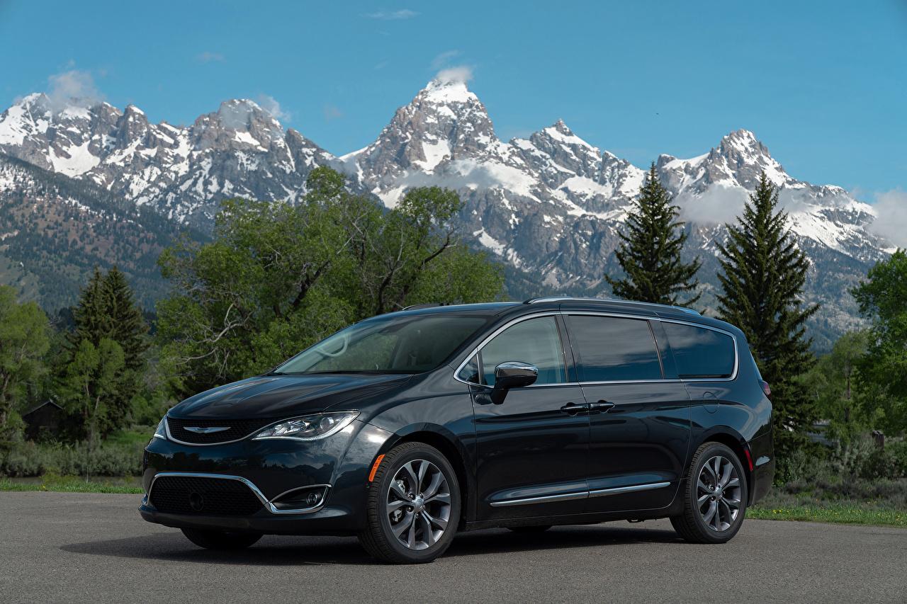 Achtergronden Chrysler Blauw kleur Auto Metallic auto's automobiel