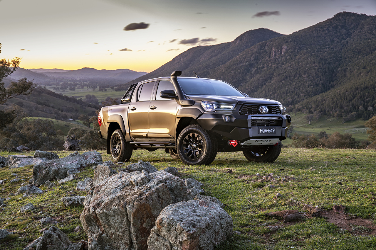 Pictures Toyota Hilux Rugged X Double Cab, AU-spec, 2020 Pickup Cars Metallic auto automobile