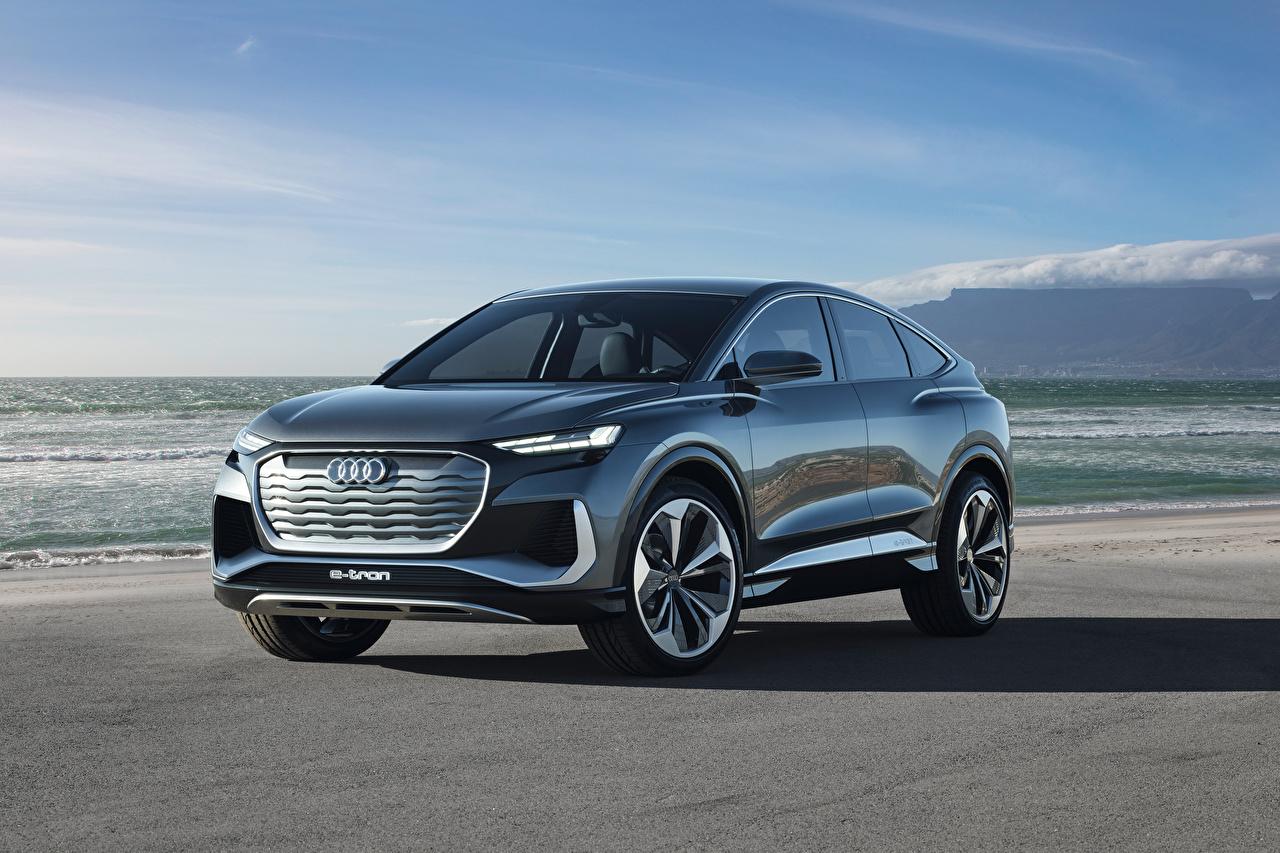 Images Audi CUV Q4 Sportback e-tron Concept, 2020 Metallic automobile Crossover Cars auto