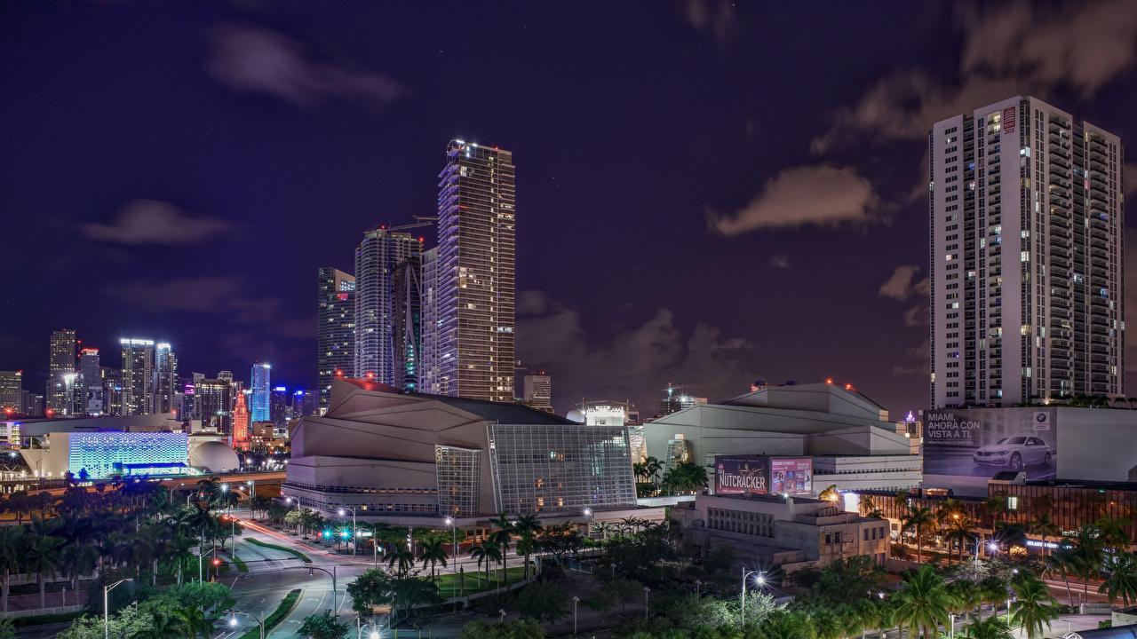 Fotos von Miami Florida USA Nacht Haus Städte Vereinigte Staaten Gebäude