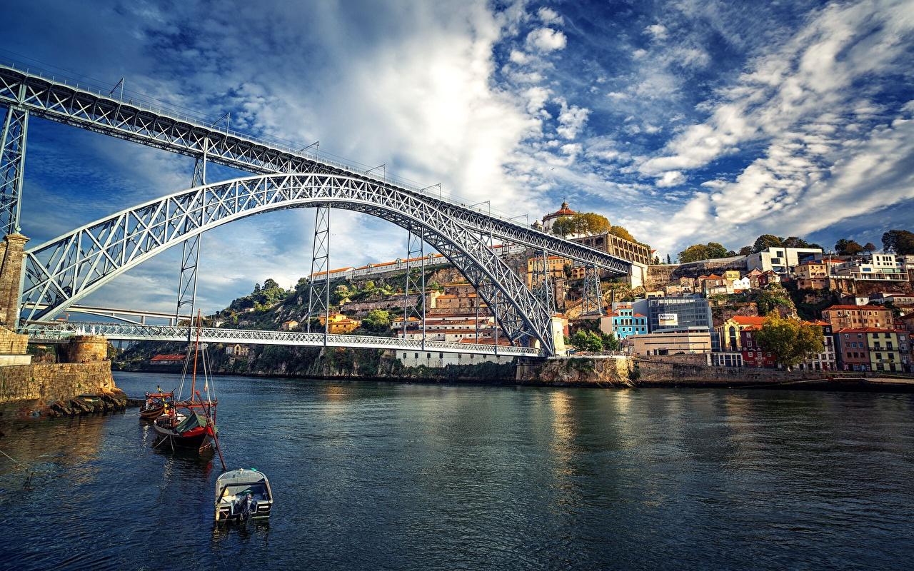 Ponts Rivières Porto Portugal Douro rivière, pont Villes