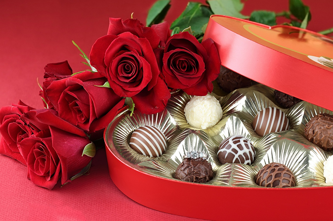 Image result for valentines day flowers and candy