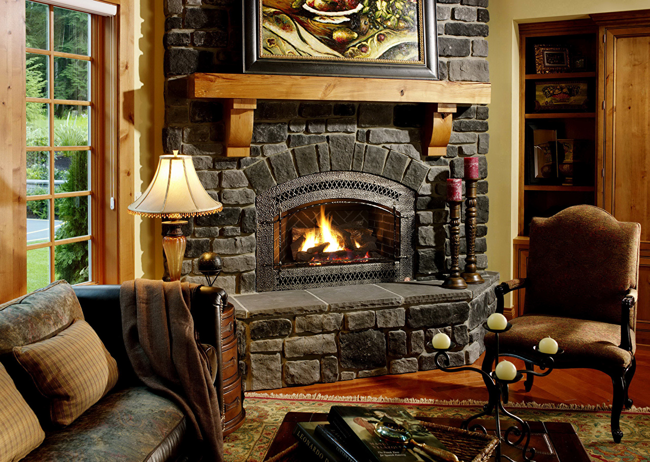 Pictures Interior Fireplace Wing chair Design Armchair